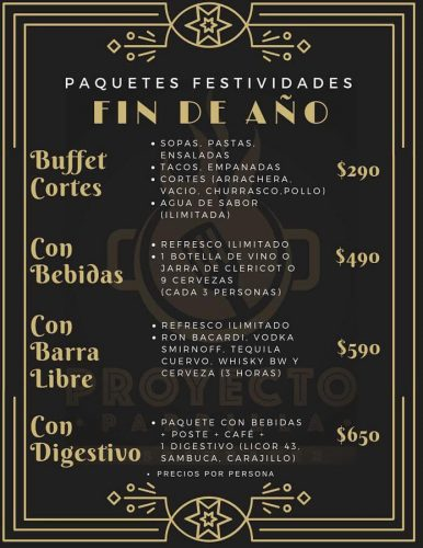 Paquetes festividades 2018 Proyecto Parrilla